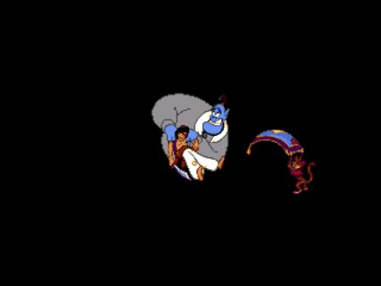 Aladdin Genie Abu Game Over