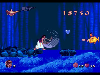 Aladdin Sword Swinging Fish Water Death