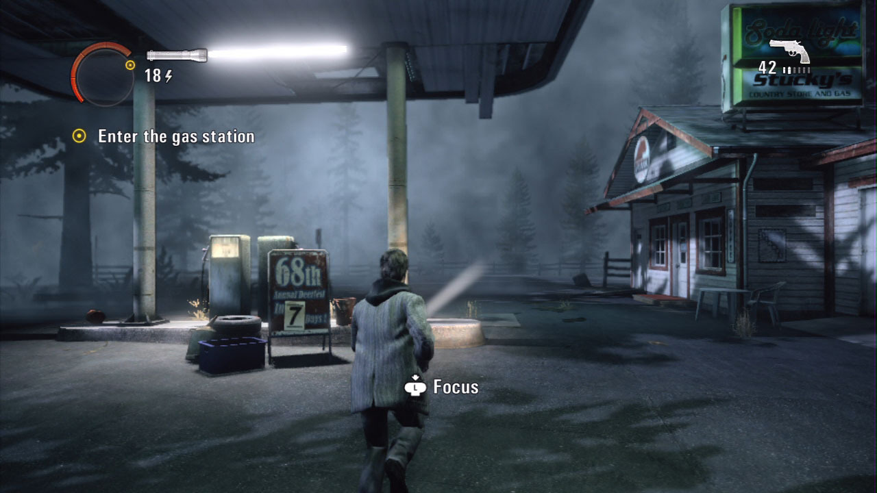Alan Wake gas Station Xbox 360