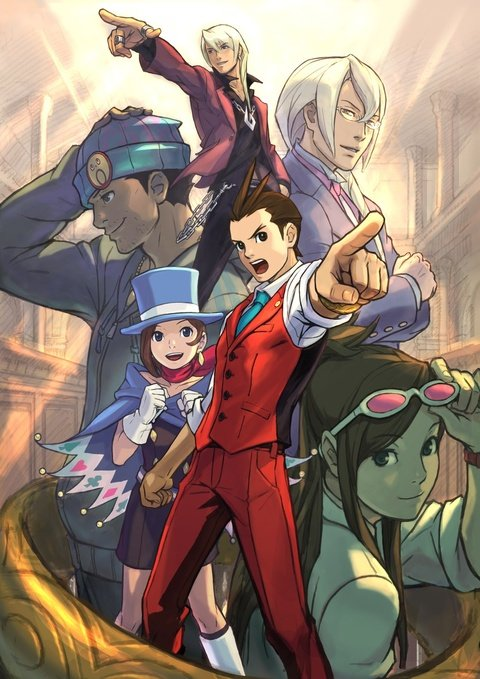 Apollo Justice Art Phoenix Wright Trucy Gavin Ema Skye