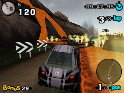 Beetle Adventure Racing Burning Village