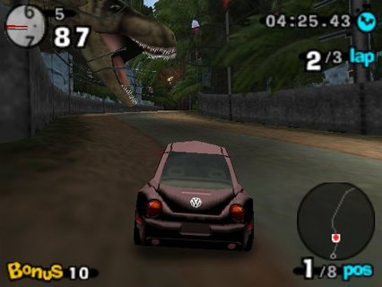 Beetle Adventure Racing T Rex Jurassic Park