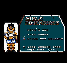 Bible Adventures Menu David And Goliath