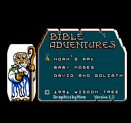Bible Adventures Menu Noahs Ark