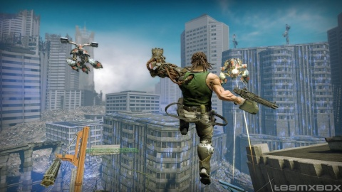 Bionic Commando Xbox 360 City Jump