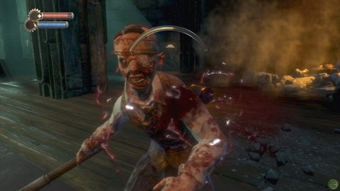 Bioshock Bloody Splicer Wrench Battle