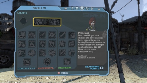 Borderlands Siren Skilltree Phasewalk
