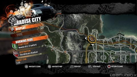 Burnout Paradise City map