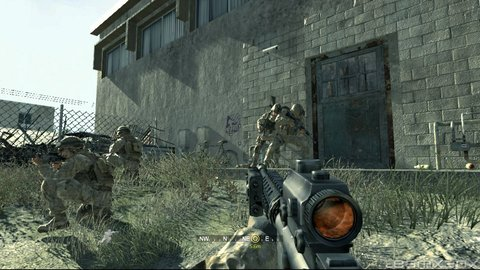 Call Of Duty 4 Marines Bust In Building