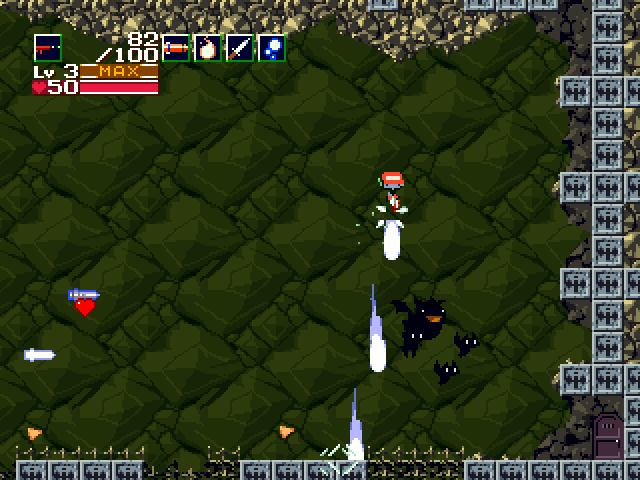 Cave Story Machine gun Jumping