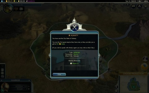 Civilization 5 Almaty City State