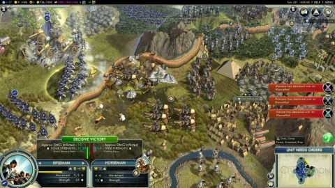 Civilization 5 Crowded Battle