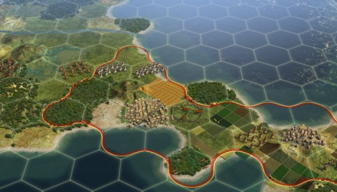 Civilization 5 hex Tactical View