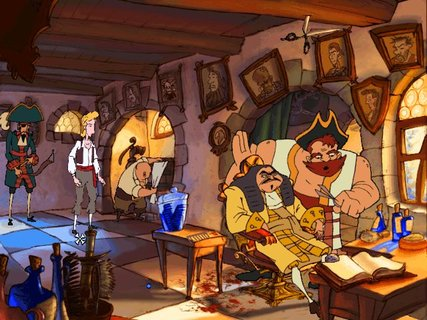 Curse Of Monkey Island Guybrush Barbershop