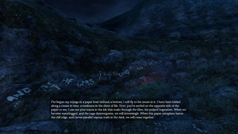 Dear Esther 13 Hillside Words