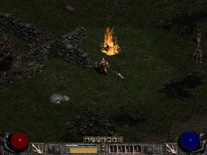 Diablo 2 Barbarian Chest On Fire