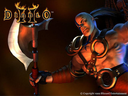 Diablo 2 Barbarian Official Art