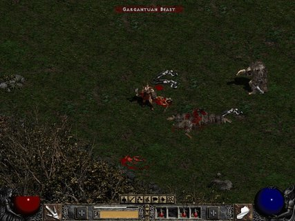 Diablo 2 Cold Plains Gargantuan Beast Bloody