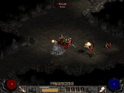 Diablo 2 Den Of Evil Demon Fallen Fireball