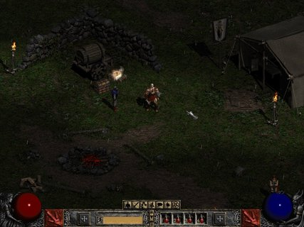 Diablo 2 Game Start Rogue Encampment