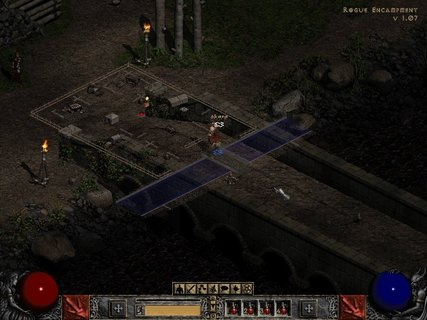 Diablo 2 Rogue Encampment Overlay Map