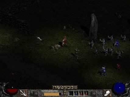 Diablo 2 Tons Of Bad Guys Run Away