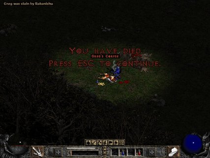 Diablo 2 You Are Dead Gregs Corpse