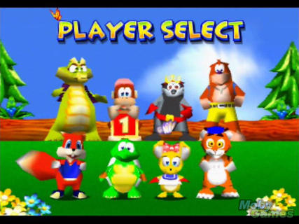 Diddy Kong Racing Character Select Conker