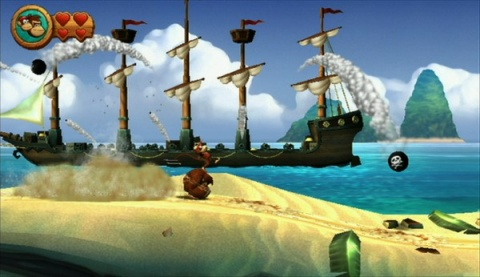 Donkey Kong Country Returns Beach