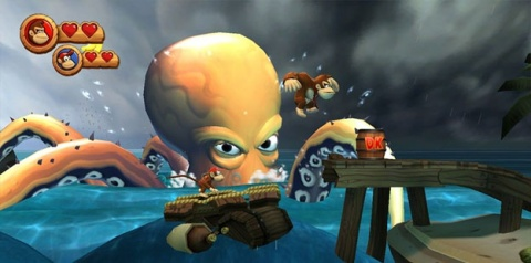 Donkey Kong Country Returns Octopus