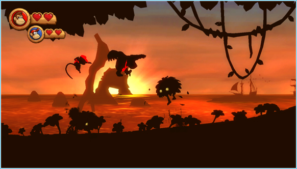 Donkey Kong Country Returns Sunset 2