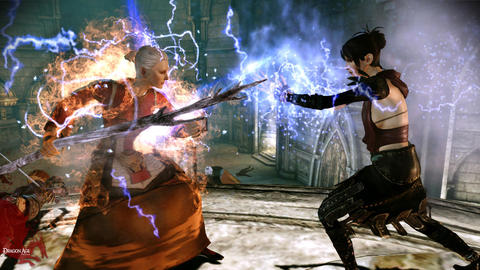 Dragon Age Origins Morrigan Mage Battle