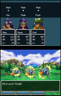 Dragon Quest 4 Battle Maya Meena Kiryl