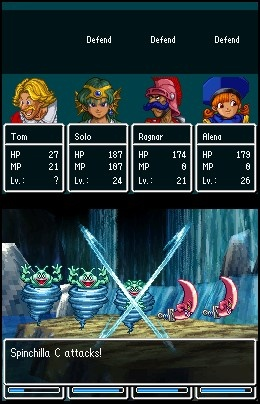 Dragon Quest 4 Battle tom Solo Ragnar Alena