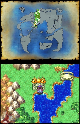 Dragon Quest 4 World map