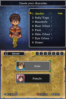 Dragon Quest 9 Character Creation