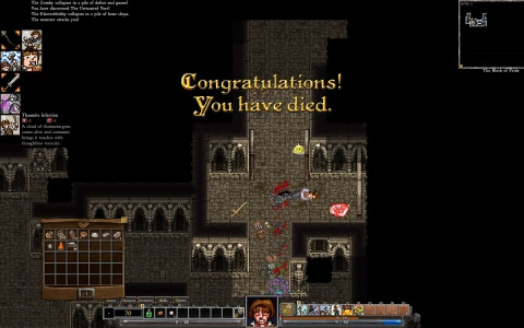 Dungeons of Dredmor Congratulations you Have Died