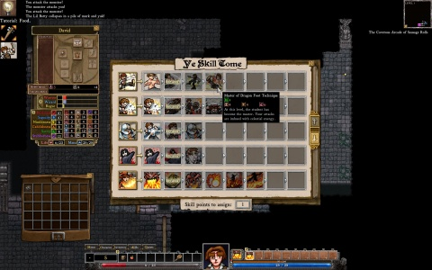 Dungeons of Dredmor Skill Tree