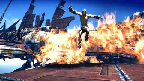 Enslaved Odyssey to the West Monkey Ship Explosion