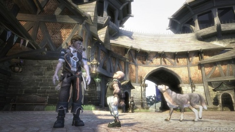Fable 2 Child Bowerstone dog