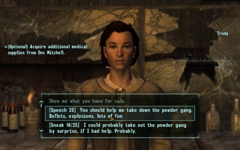 Fallout new Vegas Trudy Conversation
