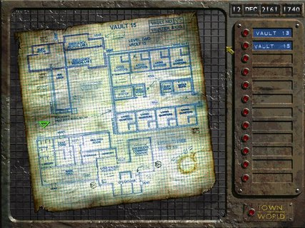 Fallout Vault 15 Blueprint Map