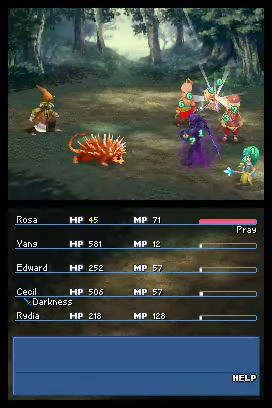 Final Fantasy 4 Rosa Yang Edward Cecil Rydia Battle