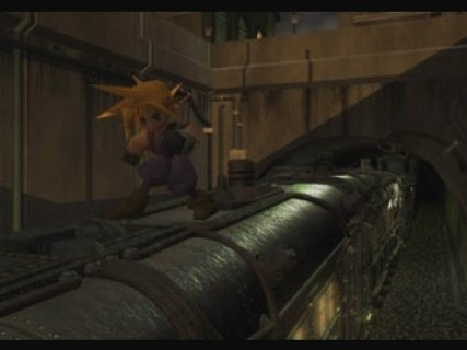 Final Fantasy 7 Cloud Train Jump Fmv