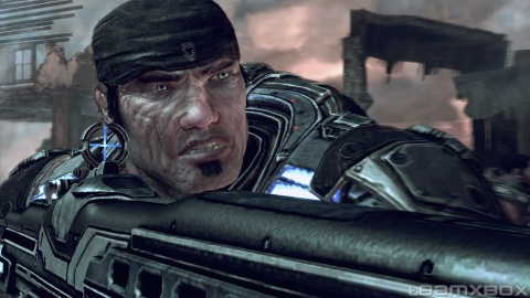 Gears of war 2 Marcus Fenix Closeup