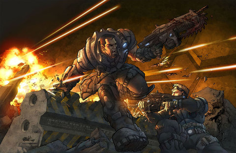 Gears Of War Art Dann Perez