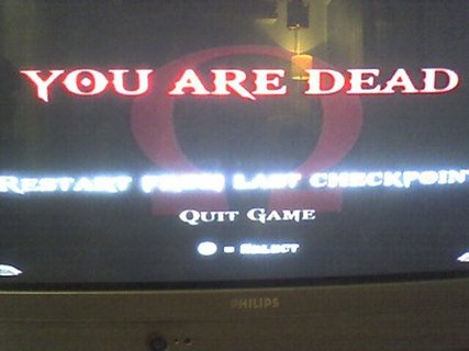 God Of War 2 Game Over You Are Dead