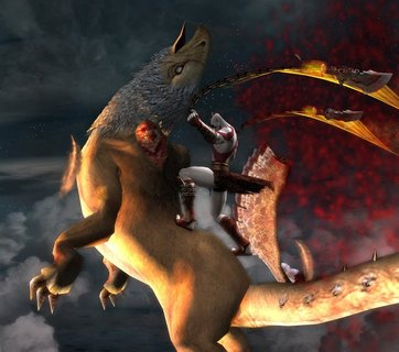 God Of War 2 Kratos Bloody Gryphon
