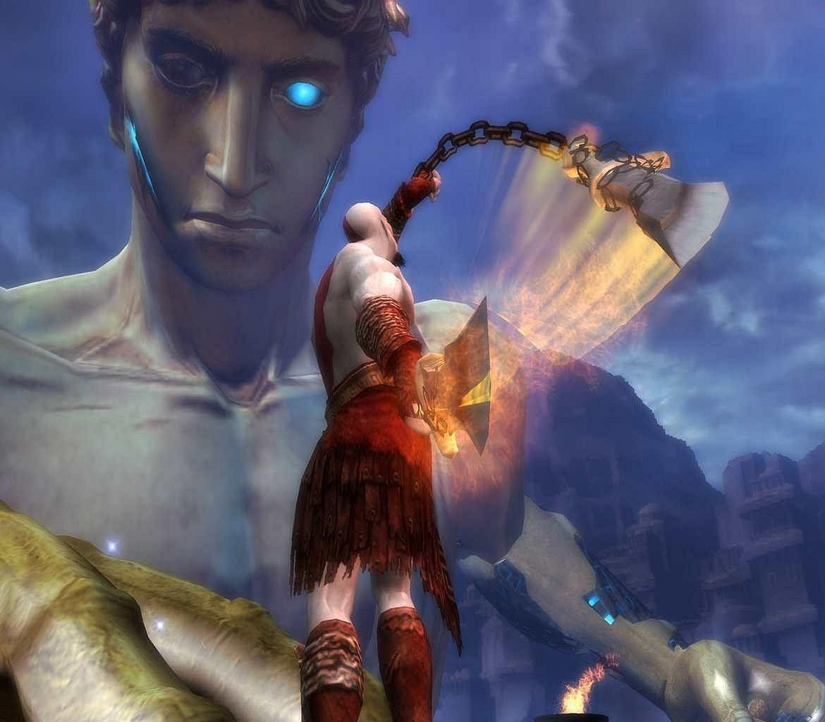 god of war 2 Kratos Colossus of Rhodes 2