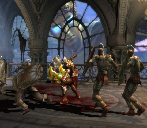 god of war 2 Kratos Colossus of Rhodes Fight